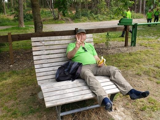 Pause an der SGV-Hütte in Affeln