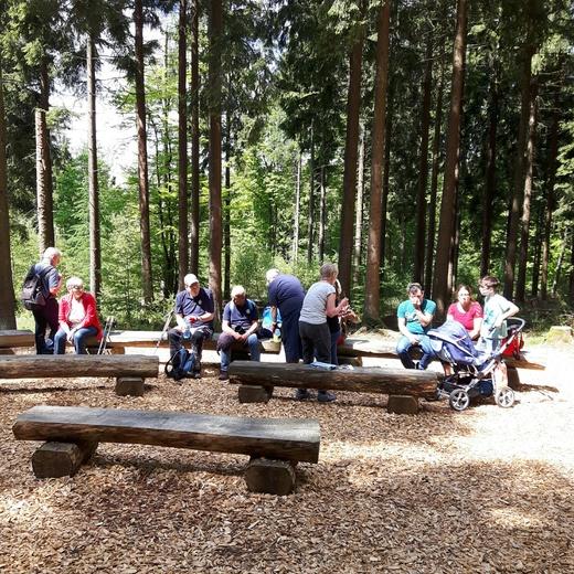An der Waldkirche im Erlebnispark in Bad Marienberg