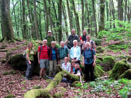 Die Trekkinggruppe unterwegs auf dem Mullerthal Trail