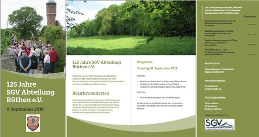125 Jahre SGV Abteilung Rüthen e.V.