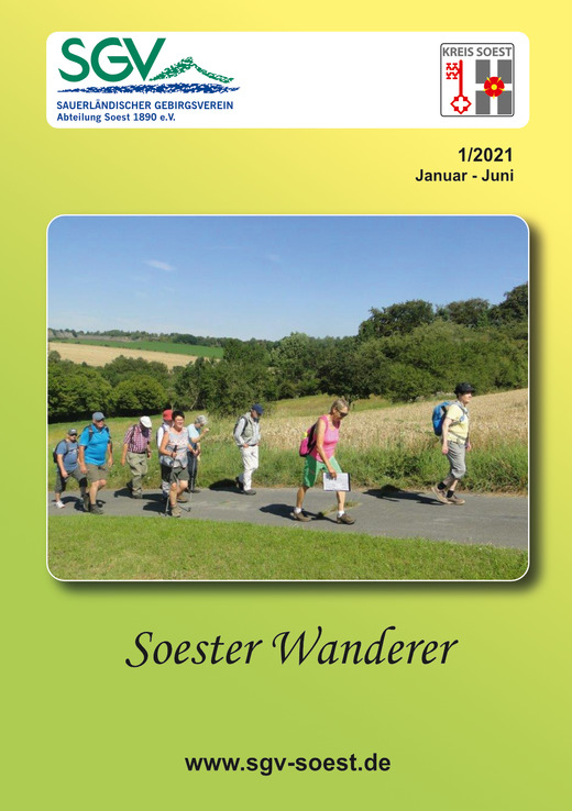 Soester Wanderer 1/2021 Titelseite