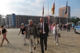 Auf geht`s in den Landtag zur Plenarsitzung                     Foto: A. Arens