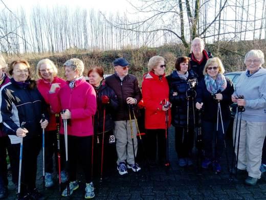 Die Aktiven der Nordic Walking Gruppe